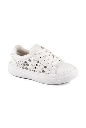 Vicco 970.19Y.433 FILET Beyaz Kız Çocuk Kalın Tabanlı Sneaker 100530292 0