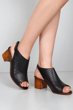 Gön Gön Hakiki Deri Kadın Sandalet 45627 1