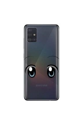 Cekuonline Samsung Galaxy A71 Tıpalı Kamera Korumalı Silikon Kılıf Şirin Bakış 0