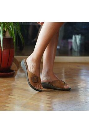 BYGURU Kadın Kahverengi Terlik 1
