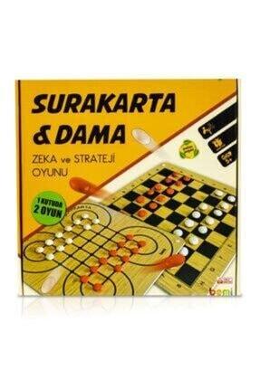BEMİ Lüks Ahşap Surakarta & Dama - Beceri Eğitici Zeka Strateji Çocuk Ve Aile Oyunu 1