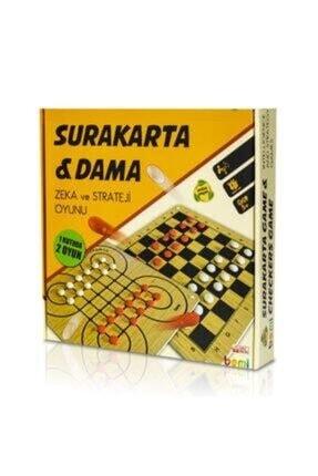 BEMİ Lüks Ahşap Surakarta & Dama - Beceri Eğitici Zeka Strateji Çocuk Ve Aile Oyunu 2