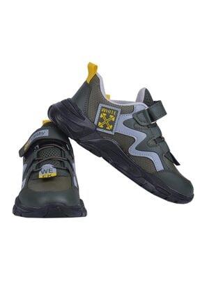 Ayakcenter Carby Haki Cırtlı Erkek Çocuk Spor Ayakkabı 2