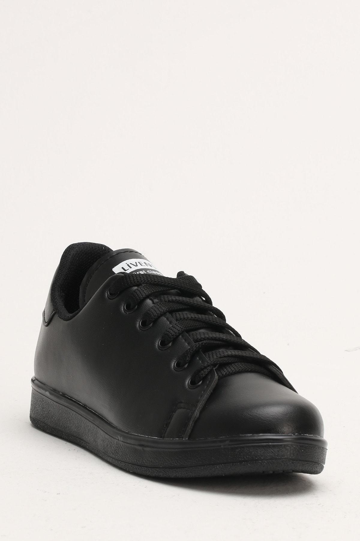 Ayakkabı Modası Kadın Siyah Sneaker Ayakkabı