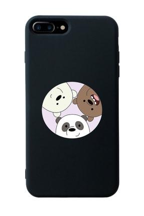 Mupity Kafadar Ayılar Tasarımlı Siyah Lansman Kılıf Iphone 7-8 Plus 0