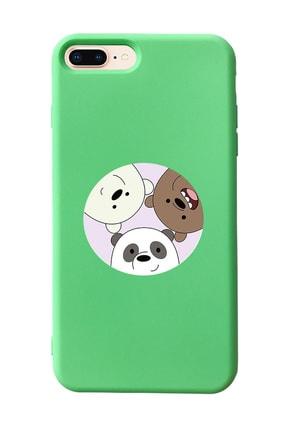 Mupity Kafadar Ayılar Tasarımlı Yeşil Lansman Kılıf Iphone 7-8 Plus 0