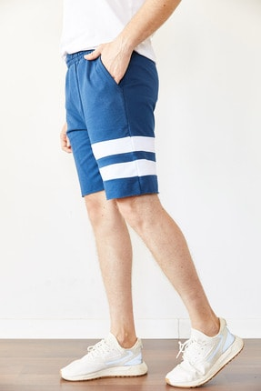 XHAN Mavi Parçalı Şort & Bermuda 0yxe5-44066-12 2