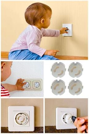 Helen's Home 4'lü Çocuk Güvenliği Priz Kapatıcı 1