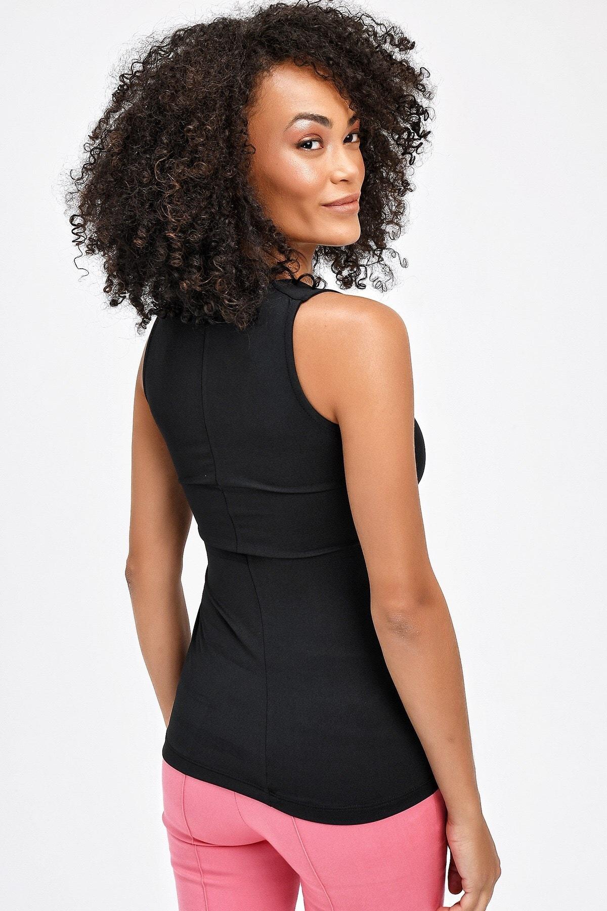 Kadın Siyah Atlet 6411