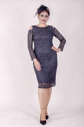 Paristan Kadın Siyah Abiye Elbise Dantel Ve Swarovski Taşlı 0