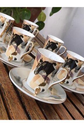 Perotti Ayaklı 6 Kişilik Kahve Fincan Seti 1
