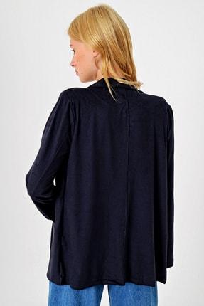 Trend Alaçatı Stili Kadın Lacivert Süet Ceket MDS-280-CKT 3