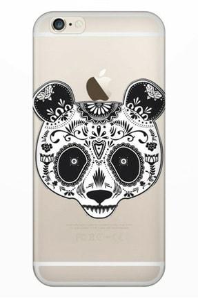 Cekuonline Iphone 6 Plus - 6s Plus Tıpalı Kamera Korumalı Silikon Kılıf - Pandass 0