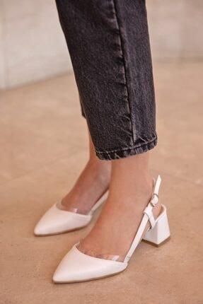 Straswans Roy Bayan Deri Topuklu Ayakkabı Beyaz 0