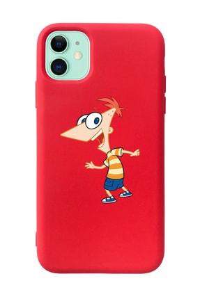 Mupity Fineas Tasarımlı Kırmızı Lansman Kılıf Iphone 11 0