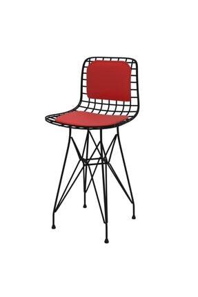 Kenzlife Knsz Ufak Boy Tel Bar Sandalyesi 1'li Uslu Syhkrm Sırt Minderli 55 cm Oturma Yüksekliği 0