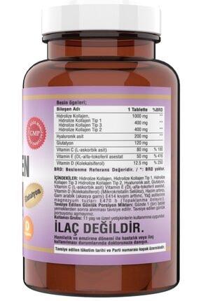 Ncs 90 Tablet Hidrolize Collagen (kolajen) Type (tip) 1-2-3 Hyaluronic Acid Vitamin C &d Glutatyon 1