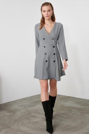TRENDYOLMİLLA Çok Renkli Düğme Detaylı Elbise TWOAW21EL0147 2