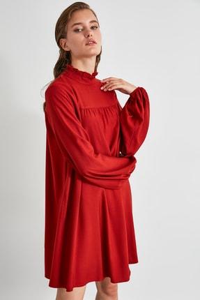 TRENDYOLMİLLA Kiremit Geniş Kesim Elbise TWOAW21EL0201 1