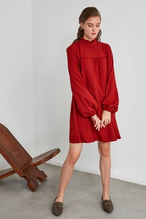 TRENDYOLMİLLA Kiremit Geniş Kesim Elbise TWOAW21EL0201 2