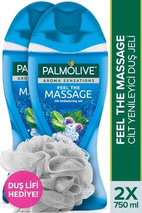 Palmolive Aroma Sensations Feel The Massage Cilt Yenileyici Duş Jeli 750 ml x 2 Adet + Duş Lifi Hediye 0