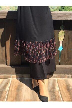 AYSUN AYDEMİR Kadın Siyah Çiçekli Tül Detaylı Sandy Takım 1