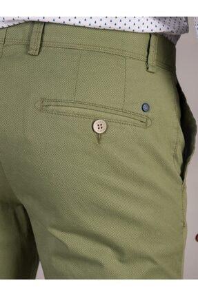 Dufy Yeşil Baskı Sık Dokuma Erkek Pantolon - Slım Fıt 3