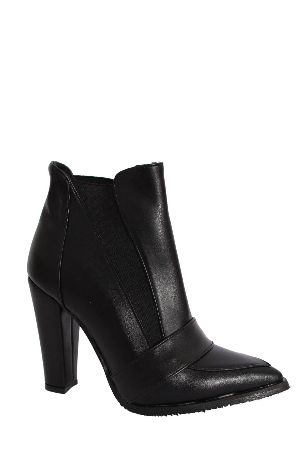 Derigo Kadın Siyah Topuklu Bot 41119
