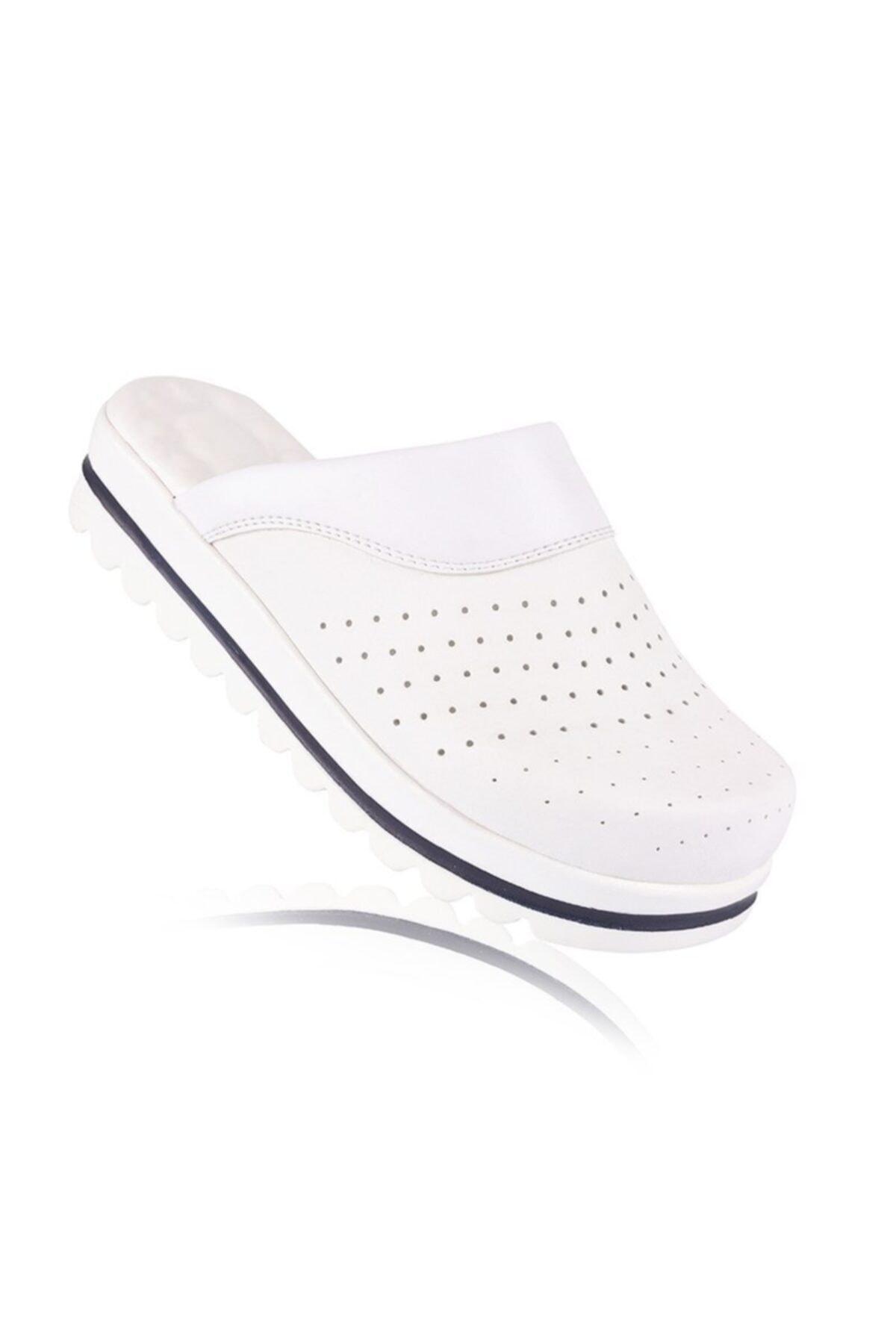 FootFlex Kadın Beyaz Klasik Terlik