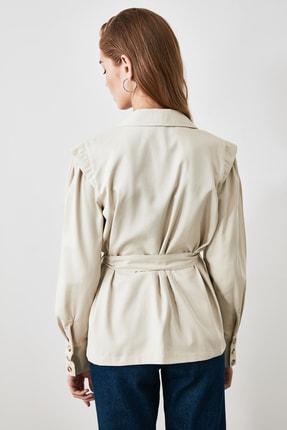 TRENDYOLMİLLA Taş Kuşaklı Blazer Ceket TWOAW21CE0201 3