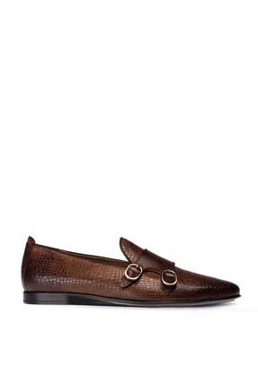 Picture of Erkek Deri Kahverengi Çift Tokalı Ayakkabı