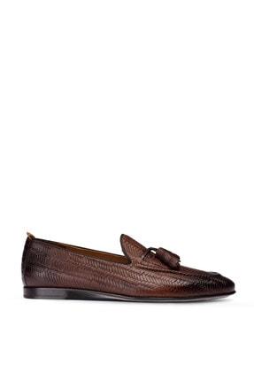 Picture of Erkek Hakiki Deri Kahverengi Örgü  Loafer Ayakkabı