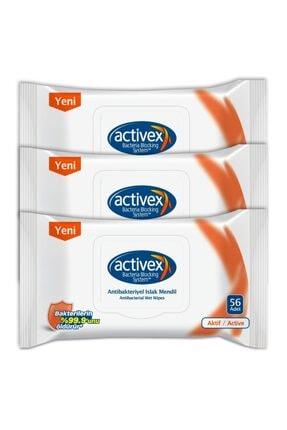 Activex Antibakteriyel Islak Mendil Aktif 3'lü Islak Mendil - 168 Yaprak 0