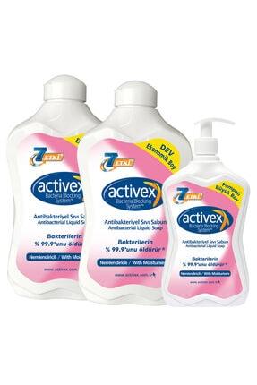 Activex Antibakteriyel Sıvı Sabun Nemlendiricili 1,5+1,5+700ml 0