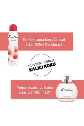 Emotion Romance Edt Parfüm 50 ml + Deodorant 3 x150 ml 2