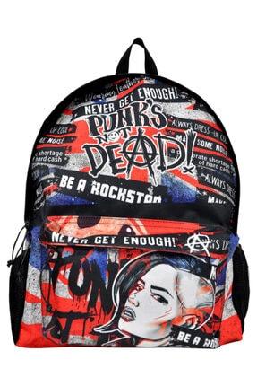 British Punk / Tasarım Baskılı Vegan / Backpack Sirt Cantasi dgb020-bck066