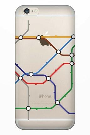 Cekuonline Iphone 6 6s Tıpalı Kamera Korumalı Silikon Kılıf - Metropol 0