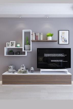 Koordinat Mobilya Roma Tv Ünitesi Beyaz Ceviz 0