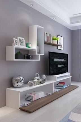 Koordinat Mobilya Roma Tv Ünitesi Beyaz Ceviz 1