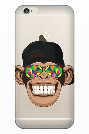 Cekuonline Iphone 6 6s Tıpalı Kamera Korumalı Silikon Kılıf - Cool Maymun 0
