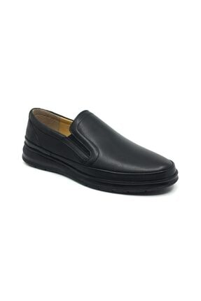 Taşpınar Erkek Siyah Deri Ortopedik Günlük Kışlık Ayakkabı 0