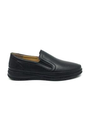 Taşpınar Erkek Siyah Deri Ortopedik Günlük Kışlık Ayakkabı 1