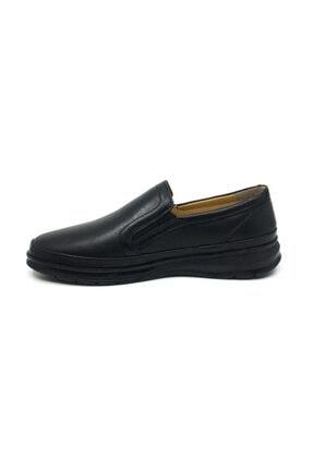 Taşpınar Erkek Siyah Deri Ortopedik Günlük Kışlık Ayakkabı 2