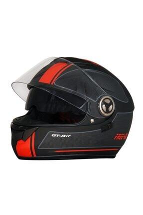 MTS Unisex Siyah Kapalı Vizörlü Motosiklet Kaskı 0