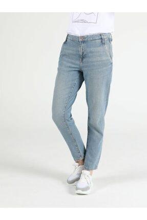 Colin's Tesa Chıno Orta Bel Rahat Kesim Paça Kadın Jean Pantolon 0