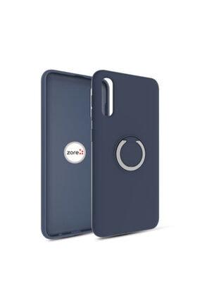 Pickcase Gramaphone Galaxy A30s Kılıf Yüzüklü Ve Standlı Esnek Arka Silikon Kapak Lacivert 0