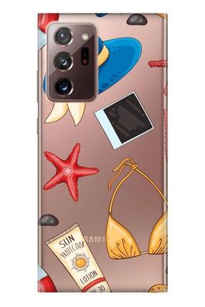 Cekuonline Samsung Galaxy Note 20 Ultra Kılıf Temalı Hd Desenli Silikon - Summer 0