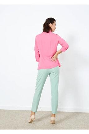 Adze Kadın Pembe Omuz İp Detaylı Yarım Kol Gömlek 3