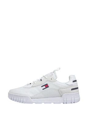 Tommy Hilfiger Erkek Retor Mesh Beyaz Sneaker EM0EM00398 0