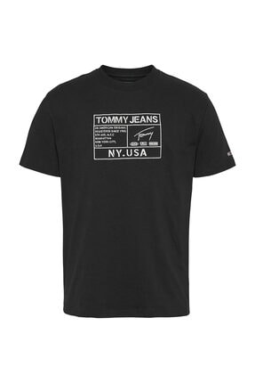 Tommy Hilfiger Erkek Gold Embroidery Logo T-Shirt DM0DM07848 3